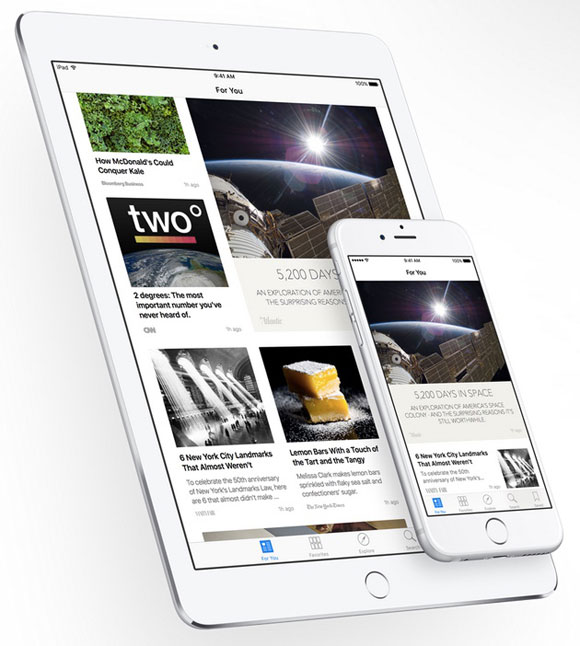 App de News en iOS 9