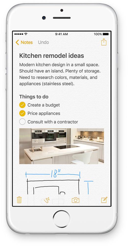 Nueva App de Notas en iOS 9
