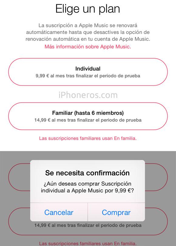 Planes de Apple Music
