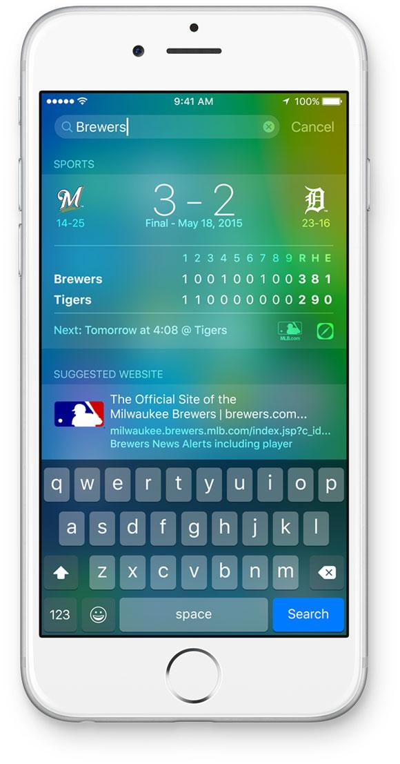 Buscador de iOS 9