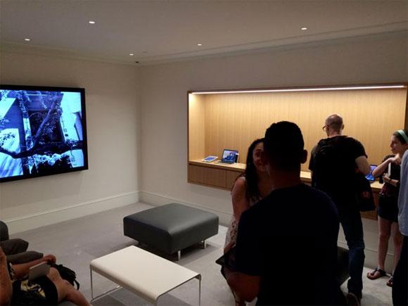 Sala VIP de la Apple Store - banco