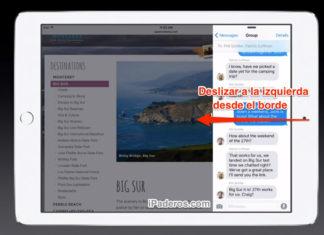 iPad con dos Apps en pantalla partida