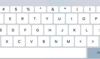 Teclado de iPad Pro en iOS 9