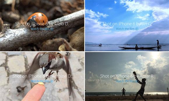 Vídeos del iPhone 6 en la web de Apple