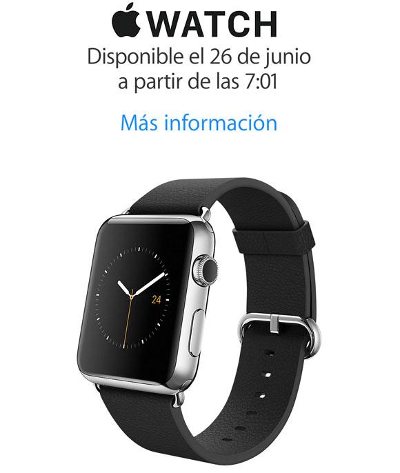 El Apple Watch a la venta en España a las 7:01