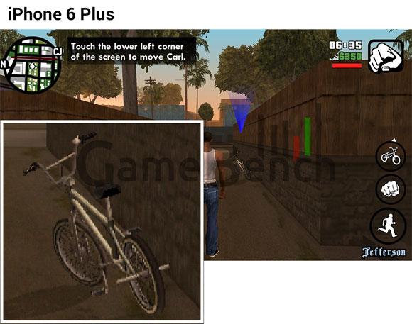 GTA: San Andreas en el iPhone 6 Plus