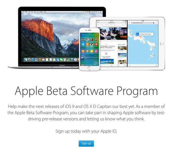 Programa de betas públicas de Apple