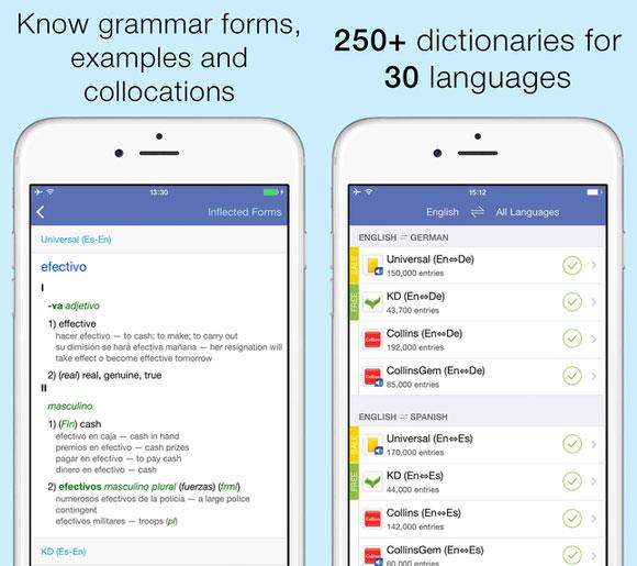 Lingvo Dictionaries: diccionarios Español ‹-› Inglés, Alemán, Ruso