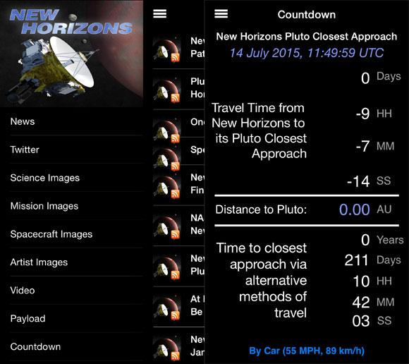 App de la New Horizons