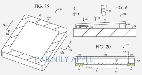 Patente de Apple que describe pantalla con panel solar