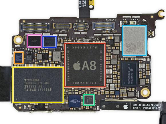 Placa base del iPod touch de sexta generación