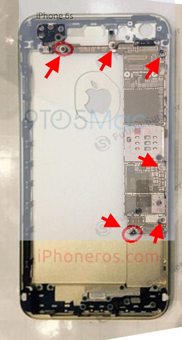 Placa base y carcasa del iPhone 6 Plus