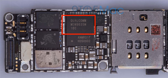 Chip del módem Qualcomm en el supuesto iPhone 6S
