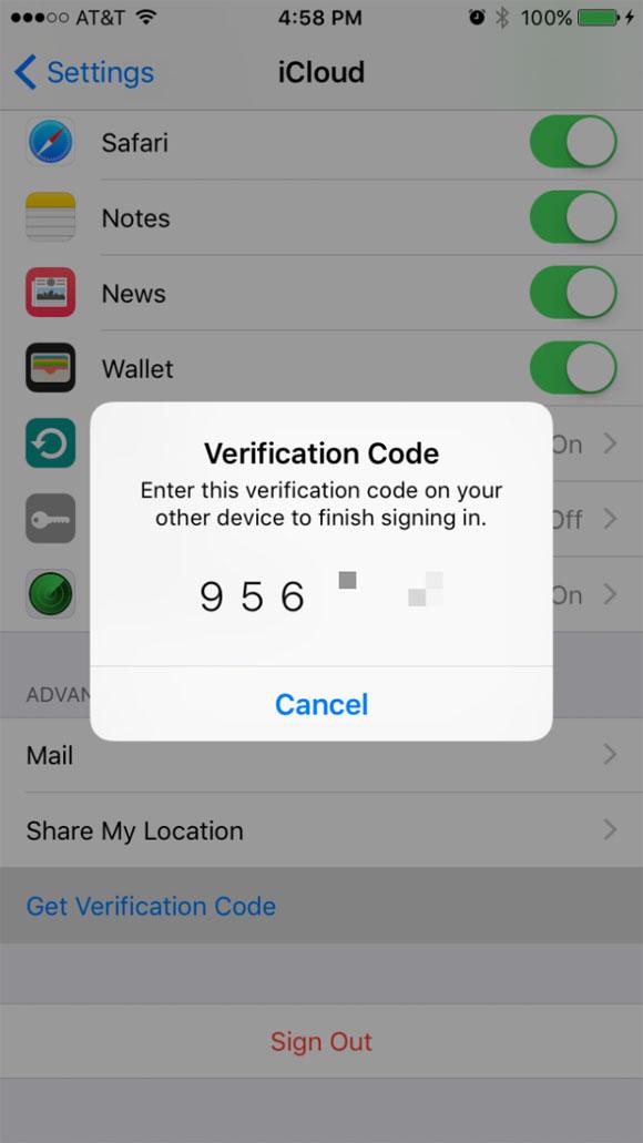 Código de verificación de seis cifras
