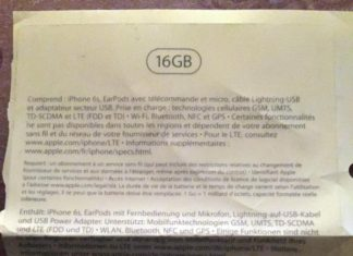 Supuesta caja del iPhone 6S