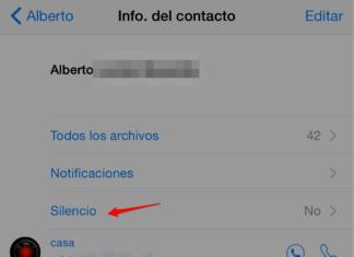 Silenciar contactos en Whatspp