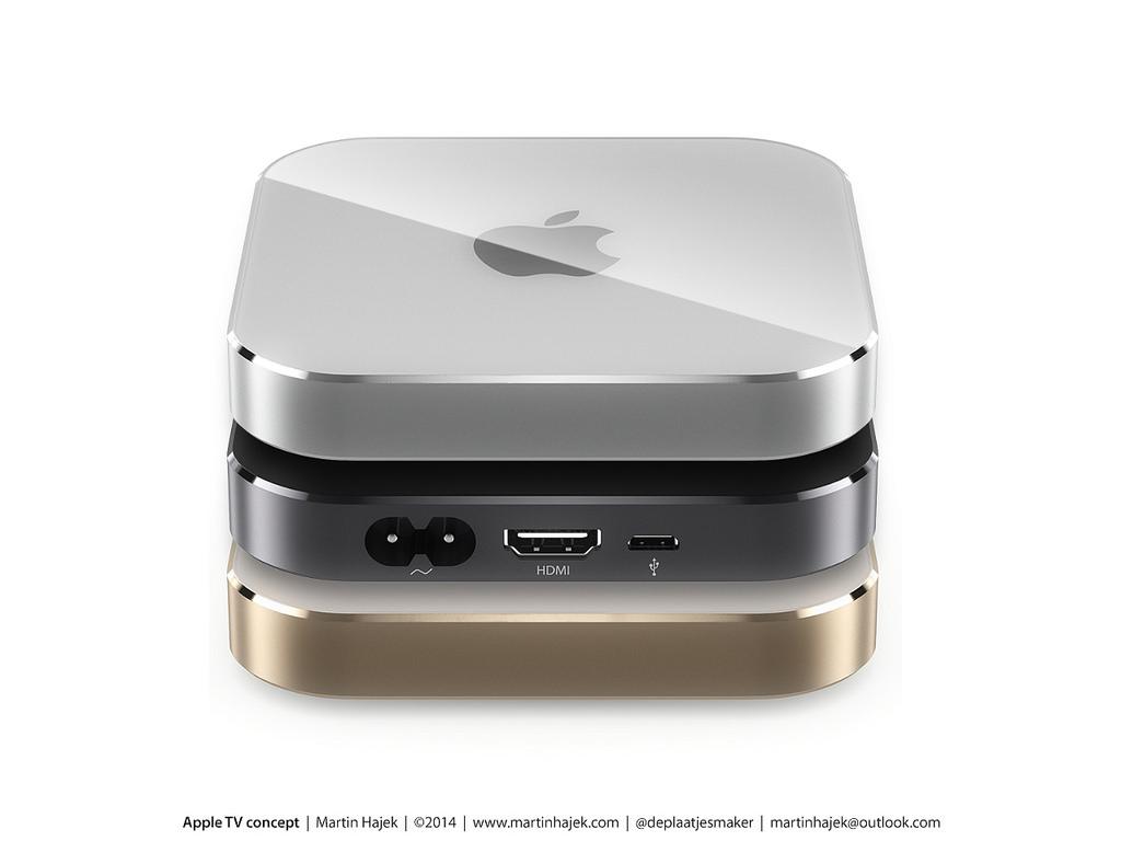 Concepto de diseño de Apple TV (by Martin Hajek)