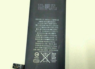 Supuesta batería del iPhone 6S