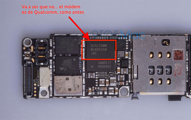 Módem de Qualcomm en el iPhone 6S