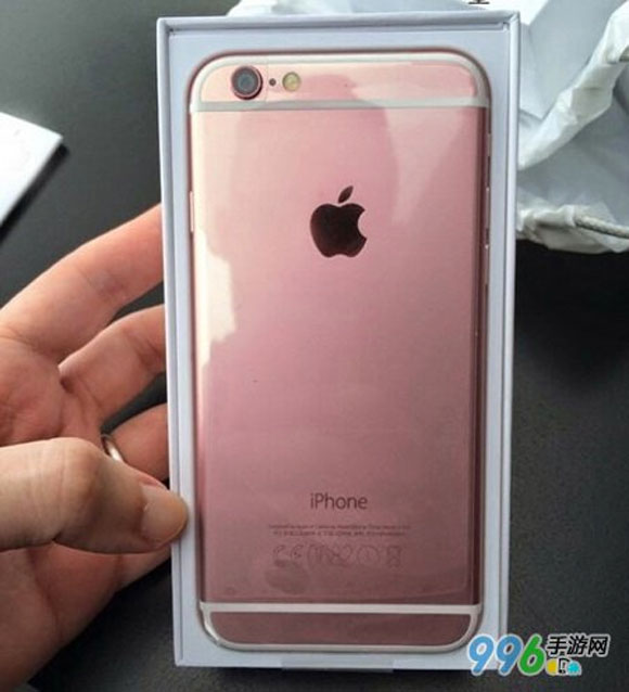 iPhone 6S oro rosado en una imagen falsa