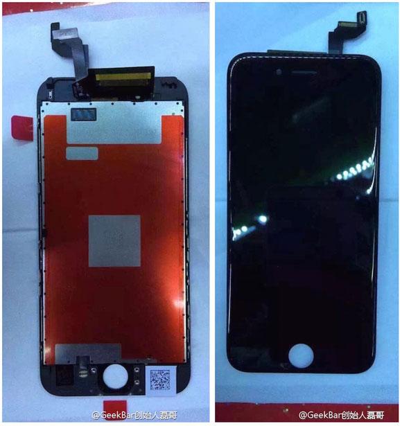 pantalla, digitalizador y cristal del supuesto iPhone 6S