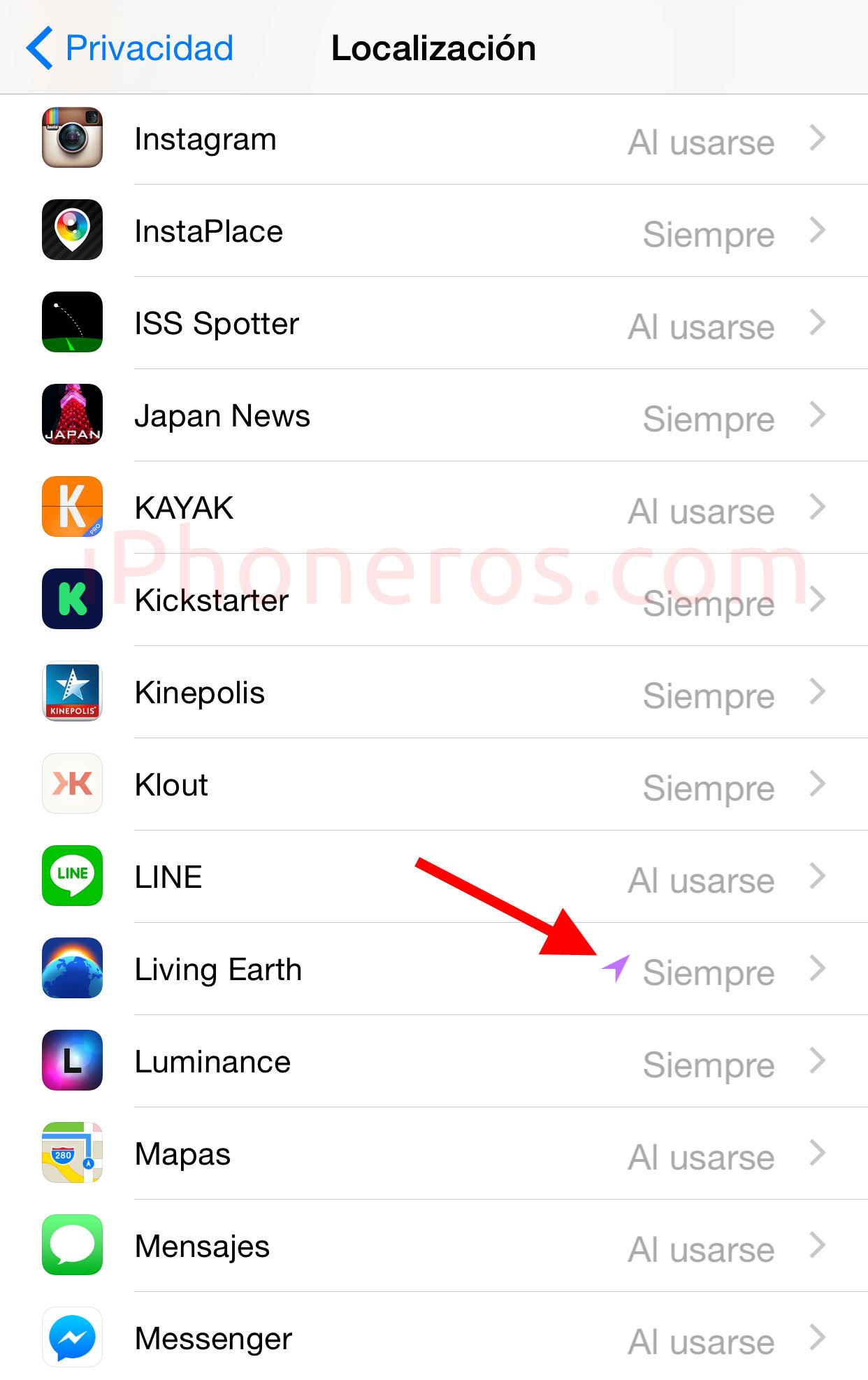 Servicios de localización en iOS