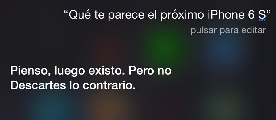 Preguntando a Siri por el iPhone 6S