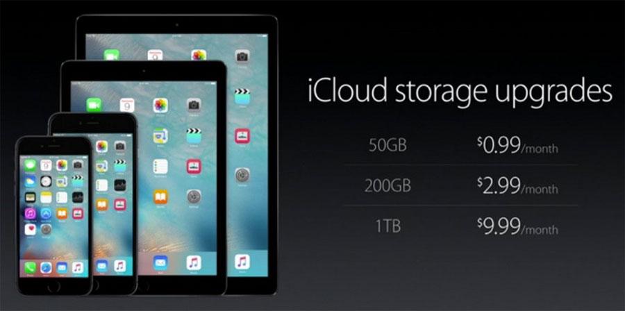 Nuevos precios de almacenamiento online en iCloud