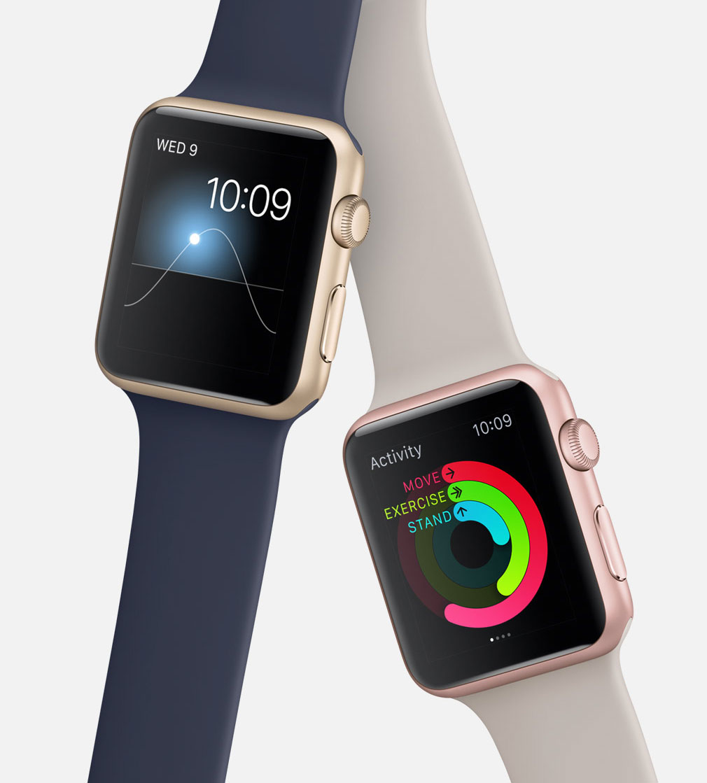 Apple Watch Sport oro y oro rosa