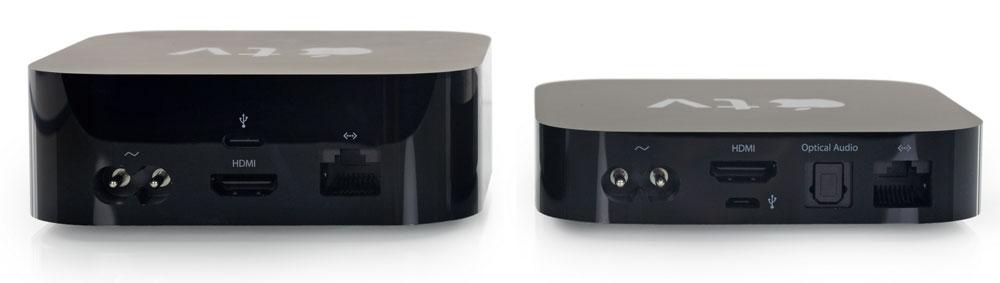Apple TV 4 y Apple TV 3, lado a lado