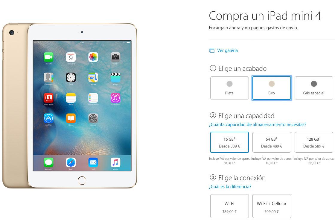 iPad mini 4 ya a la venta