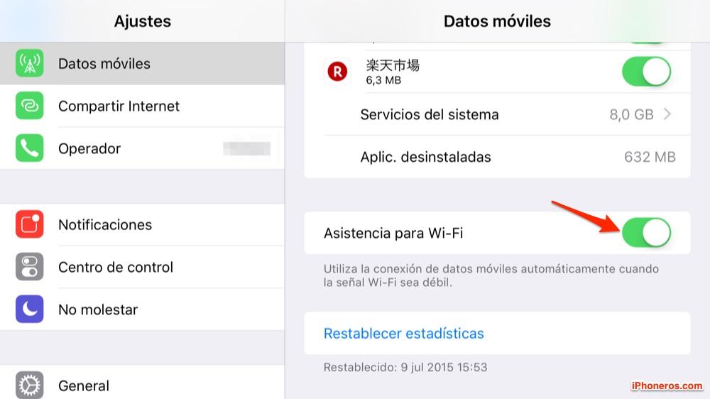 Cuidado con esta opción de asistencia vía datos de red celular