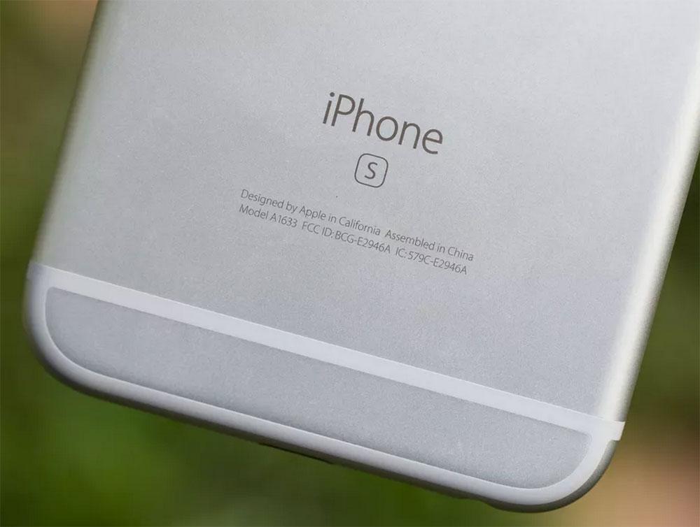 Marca de la S en el iPhone 6S