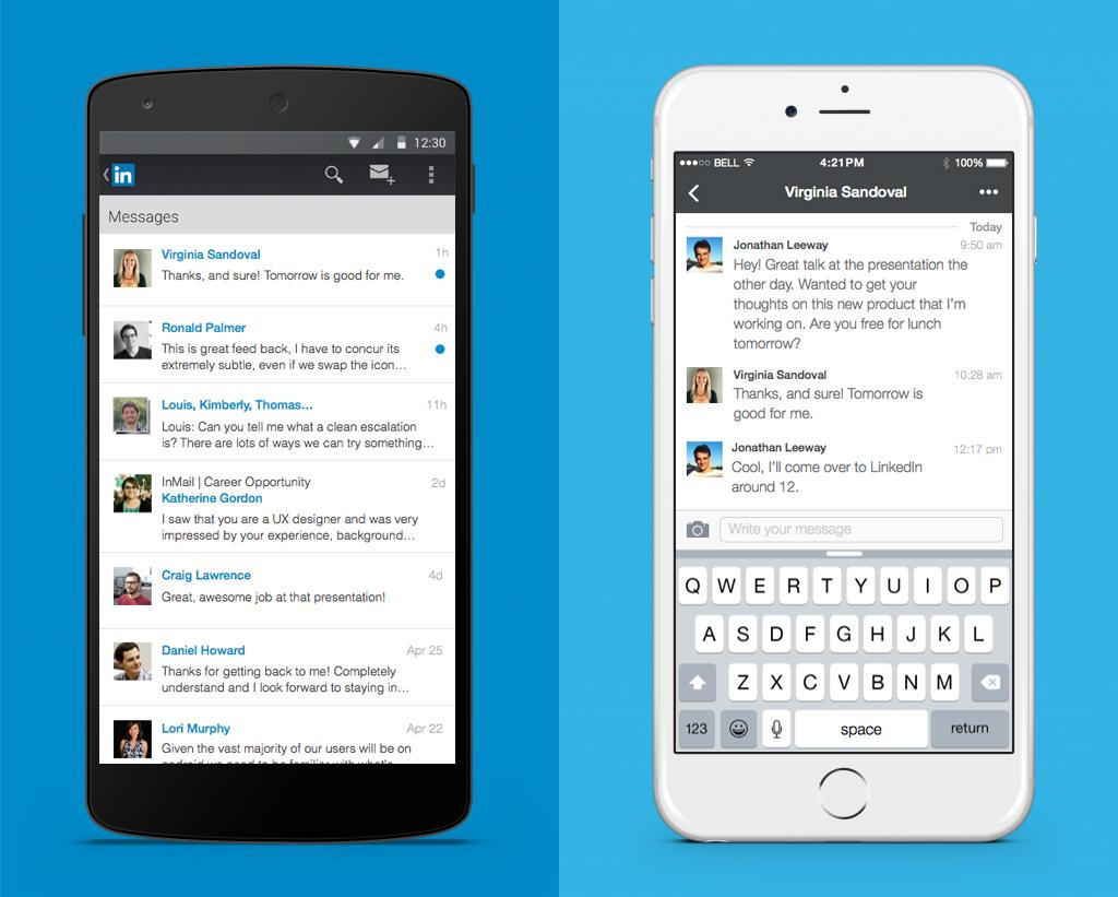 Mensajería instantánea en LinkedIn