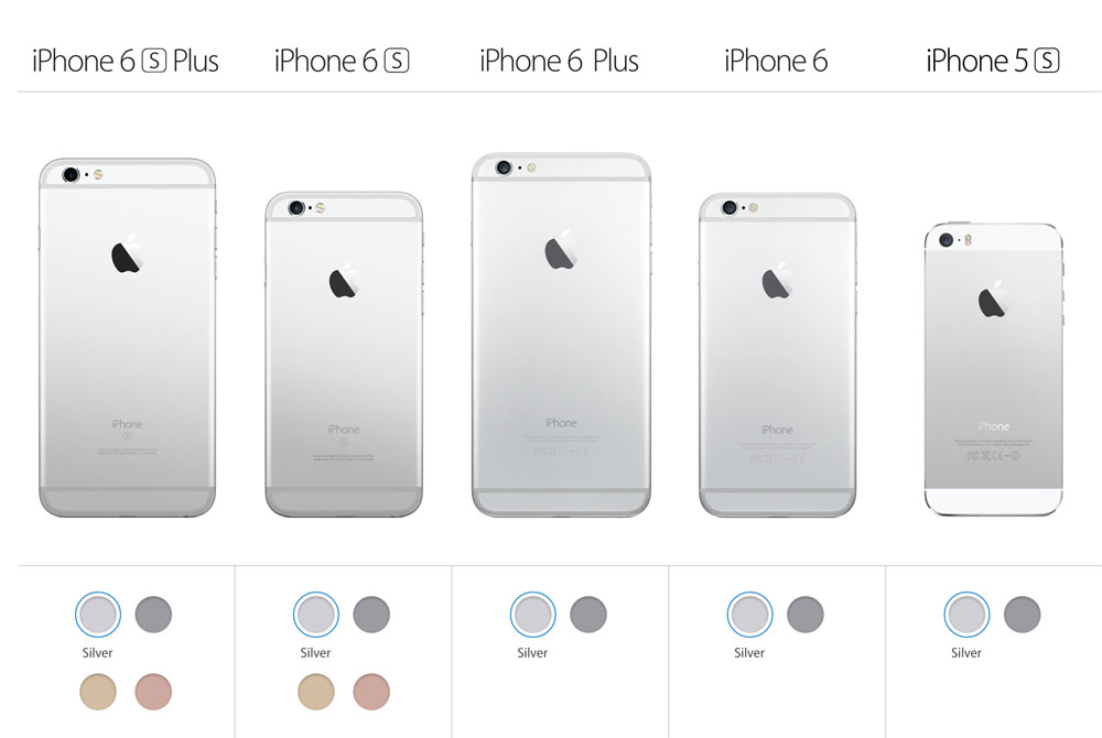 apple descataloga los iphone 6 6 plus y 5s de color. Black Bedroom Furniture Sets. Home Design Ideas