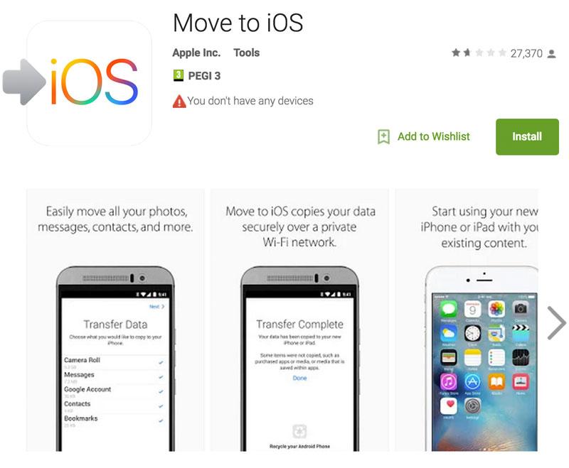 Move to iOS en Google Play