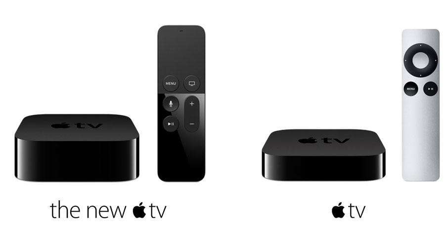 Apple TV nuevo y viejo