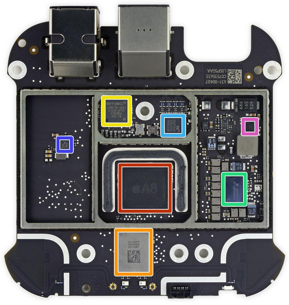 Placa base del Apple TV 4