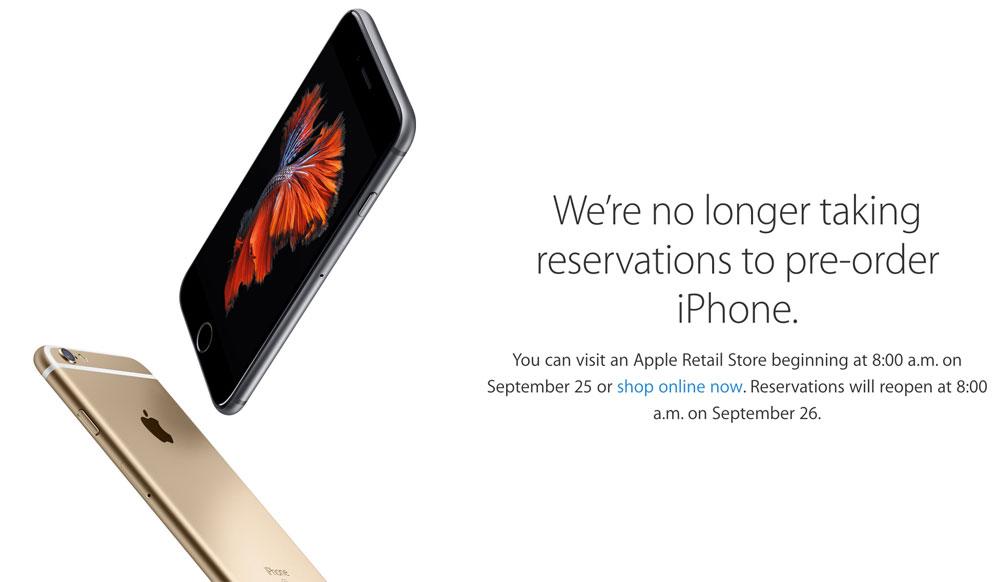 Se agotó el iPhone 6S