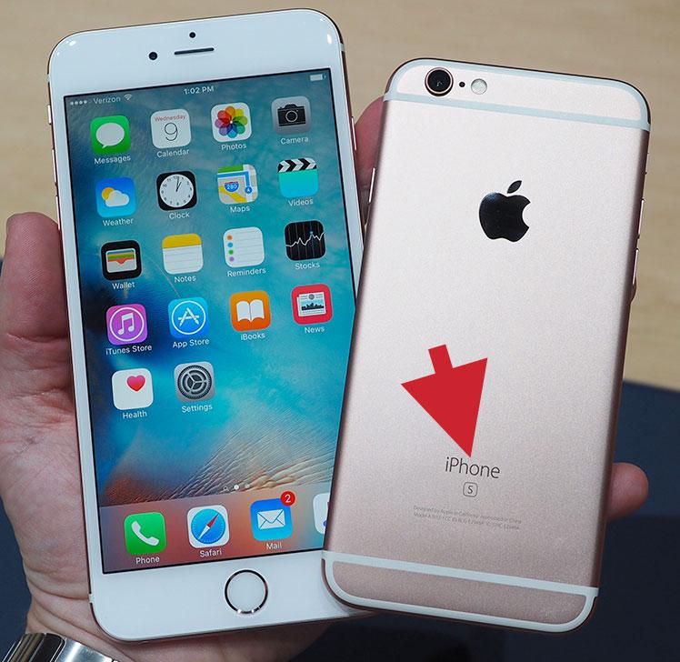 iPhone 6S sólo pone S