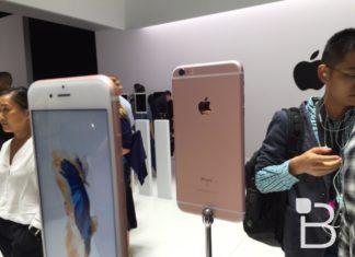iPhone 6S en la sala de pruebas