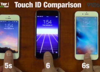 Comparación de Touch ID