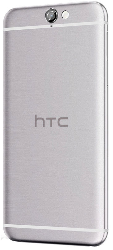 El HTC A9 por detrás en color plateado