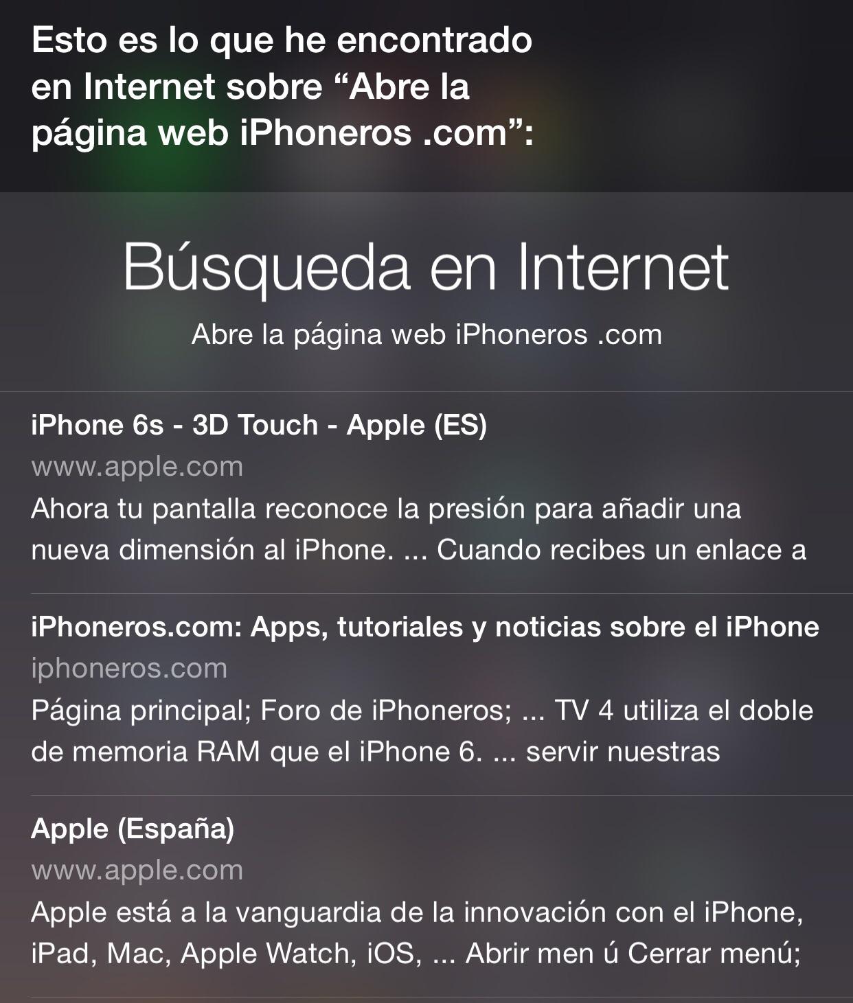 Siri no quiere abrir iPhoneros.com