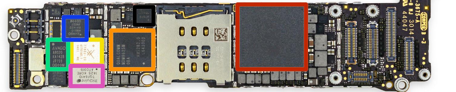 Placa base del iPhone 6 Plus