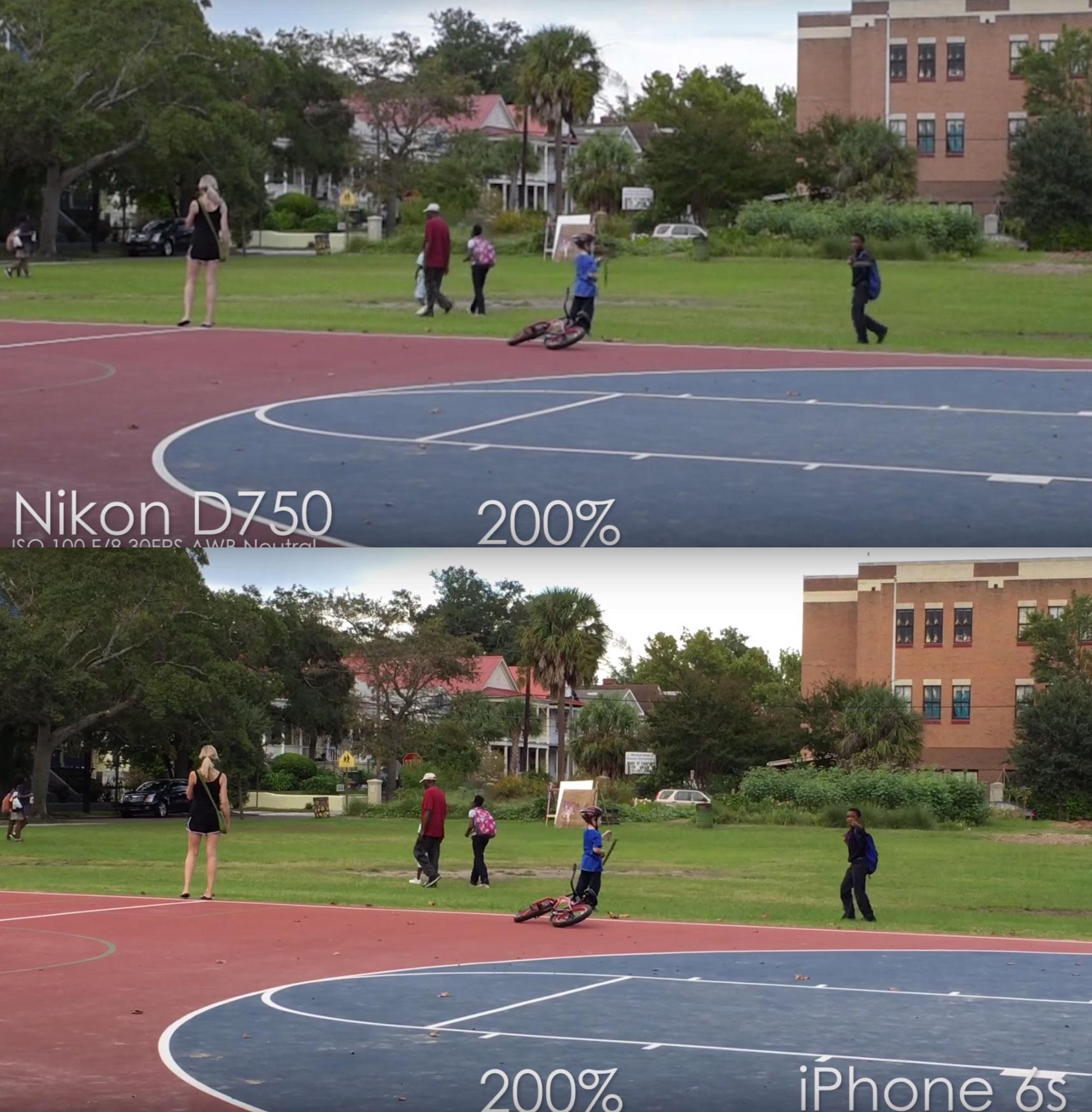 Comparación de calidad de vídeo 4K en el iPhone 6S