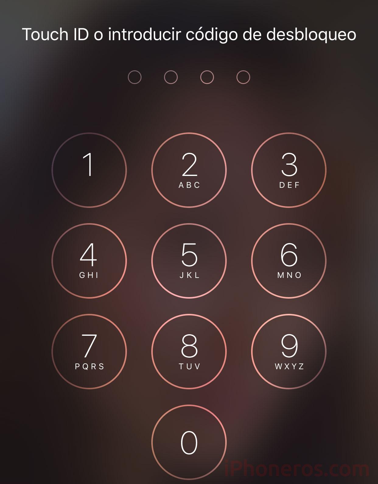 Clave de desbloqueo del iPhone
