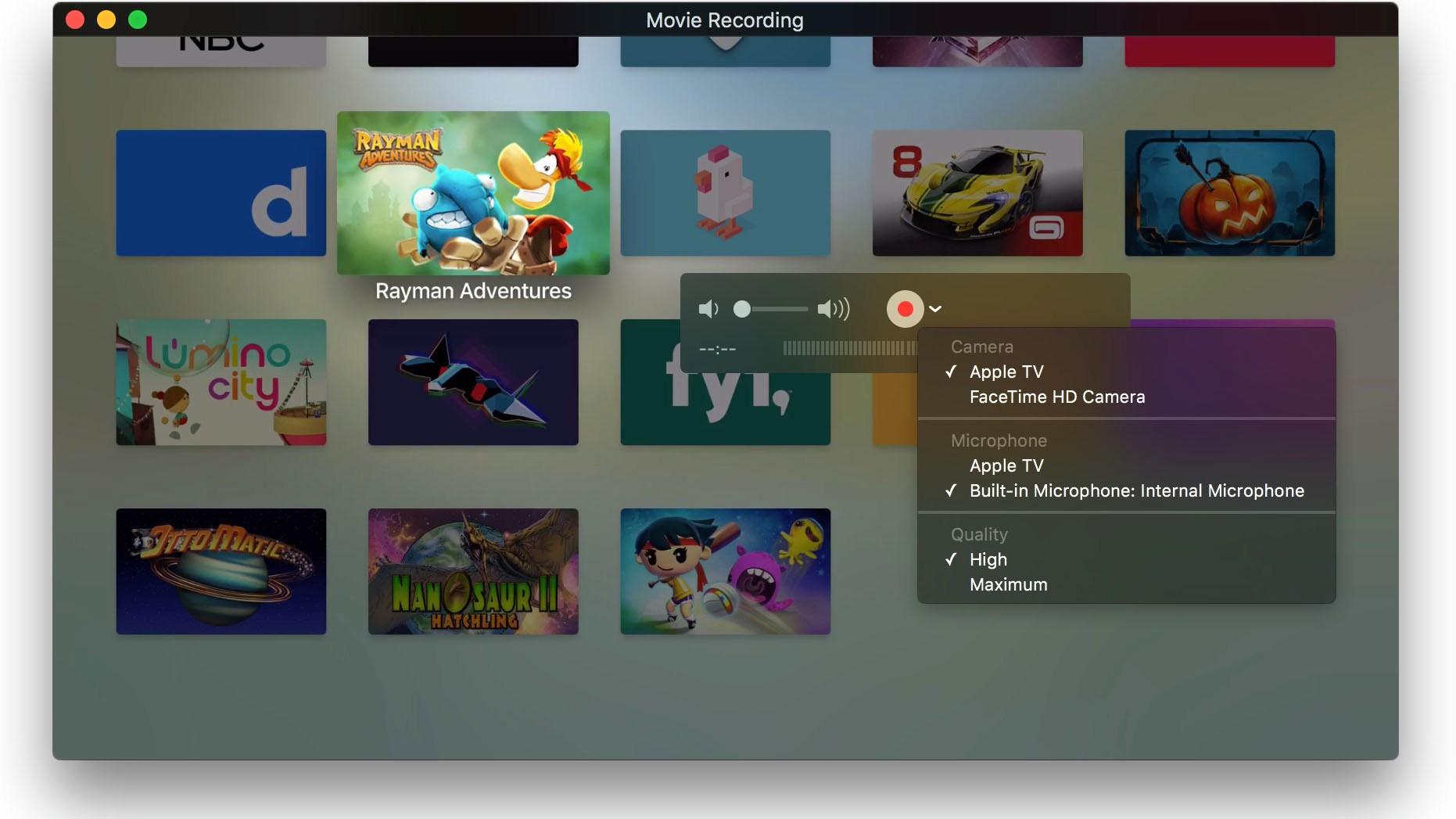 Capturas de pantalla en el nuevo Apple TV