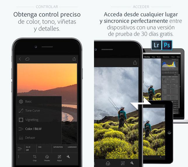 Adobe Photoshop Lightroom para iPhone