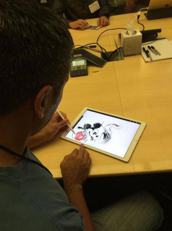 Mickey en el iPad Pro